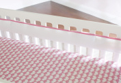 Just Born Fresh Air Crib Liner, Pink/White
