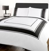 Simple Textile Minimalism White Black Square Duvet Cover Cotton Word Back Type Bedding Duvet Set Pillow Case 200cm *230cm 3 Pcs Bedding
