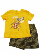 Toughskins Infant Boys Don't Bug Me Orange T-Shirt & Brown Camo Shorts 18m