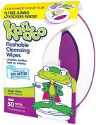 Kandoo Flushable Toddler Wipes-Magic Melon Scent-Tub-50 ct