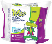 Kandoo Flushable Toddler Wipes-Magic Melon Scent-Refill Packs-100 ct