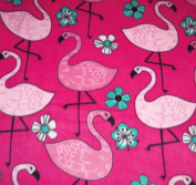 Flamingos Hand Tied Fleece Baby Pet Lap Blanket 80cm x 60cm Made by Scrunchies by Sherry