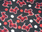 Scottie Dogs Hand Tied Fleece Baby Pet Lap Blanket 80cm x 60cm Made by Scrunchies by Sherry