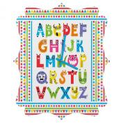 DENY Designs Andi Bird Alphabet Monsters Quatrefoil Clock, Small