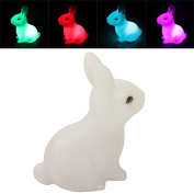 Phoneix 1 Pc Cute Rabbit Shape Home Party Decor Night Light Beautiful Charming