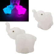 Phoneix 1 Pc Lovely Elephant Shape Home Party Decor Night Light Beautiful Charming