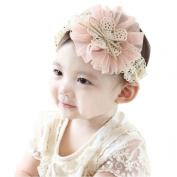 FEITONG(TM) Lovely Kids Baby Flowers Headband Lace Bow Hair Wear Hairband Ribbon