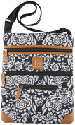 Stone Mountain Lockport Batik Quilted Handbag Black/white