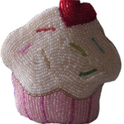 E.a@market DIY Pink Cake Change Purse Pure Manual Beaded Coin Purse