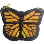E.a@market Butterfly Change Purse Pure Manual Beaded Coin Purse