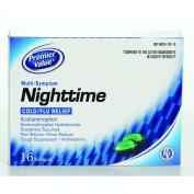 Premier Value Nighttime Softgels (Non Pseudo) - 16ct