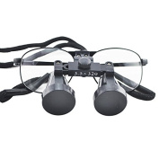 icarekit (TM) High-end Luxury Dental Metal Surgical Medical Binocular Loupes 3.5X 320mm Optical+ Carry bag