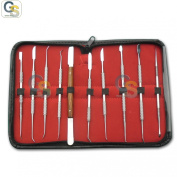 G.S DENTAL LAB STAINLESS STEEL KIT WAX CARVING TOOL SET