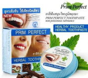 Happyland2u Herbal Whitening Toothpaste for Healthy Teeth Prim Perfect Reduce Plaque, Prevent Tooth Decay, Protect Teeth From Smoking