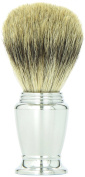 Pure Badger Bristle Chrome Handle Shaving Brush 21mm Knot -- Super Durable Super Soft Creates a Great Lather