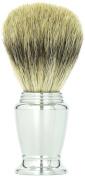 Pure Badger Bristle Chrome Handle Shaving Brush 21mm Knot -- Super Durable Super Soft Creates a Great Lather