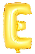 USPRO® 110cm Gold Letter E Balloon