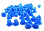 "DCTattoo 1000 X Bulk Buy Blue ""No Holder Flat Base"" Tattoo Ink Caps -"