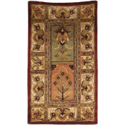 Safavieh Classic Collection CL386A Handmade Traditional Oriental Multicoloured Panels Wool Area Rug