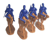Egyptian Camel Corps 1882 Winter Dress (Dark Blue) 4 Figures Plus 4 Camel By Armies in Plastic Ofered By Classic Toy Soldiers, Inc