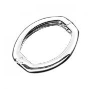 Housweety 10 Silver Plated Necklace Shortener Clasps 27x20mm