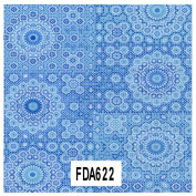 Decopatch Paper Ref 622 - Circle Dot Pattern (Blue Turquoise) Single Sheet