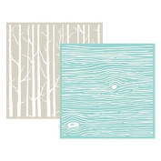 We R Memory Keepers Woodgrain Goosebumpz Embossing Folder, 2 Per Package