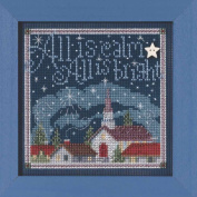 All is Calm Beaded Counted Cross Stitch Kit Mill Hill Buttons & Beads 2015 Winter Series MH145305