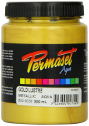 Standard Cover Screenprinting Ink - Gold Lustre Permaset Aqua Fabric Magic 300ML