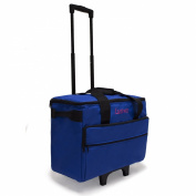 Luova 48cm Rolling Sewing Machine Trolley in Cobalt Blue