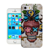 Craft shop Vintage Skull Retro Tribal Case Hard Cover Back Skin Protector Shield For iPhone 5S 5 & With a Nice Gift
