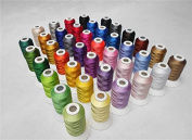 40 Spool Polyester Embroidery Machine Thread Set Brilliant Colours for Home Sewing Machines 500m/spool