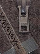 43cm Vislon Zipper ~ YKK #5 Moulded Plastic ~ Separating - 917 Dark Chocolate Brown