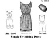 1870-1895 Simple Swimming Dress Pattern