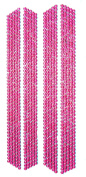 Flip Flop Bling Rhinestone Strips, 4-Pack, Hot Pink