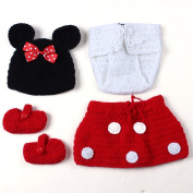 Feiuruhf Cute Style Unisex Newborn Crochet Knitted Outfits Costume Set Photo Prop