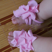 Baby Toddler Infant Girl Boy Cotton Shoe Ties Flower Slippers Sandal Pink