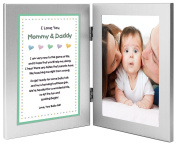 New Parents Frame and Poem From Baby Girl - Mommy and Daddy From Daughter - Add Photo