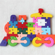 Wooden Building Blocks Puzzle 26 English Alphanumeric Children Educational Toys Cognitive Intelligence Puzzle Toys Children Gift