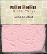 Welcome to the World Bassinet Sheet Pink