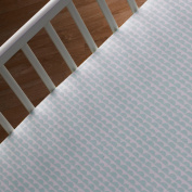 Lolli Living Sparrow Fitted Sheet, Mint Scallop