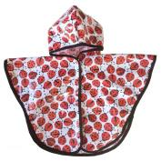 Satsuma Designs Baby and Toddler Poncho, Ladybug