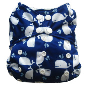 Reusable All-in-one AIO Baby Cloth Nappy One Size Fit 4.1-15kg