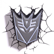 Hasbro Transformers 3d Deco Light FX Deception Shield Led Wall Nightlight