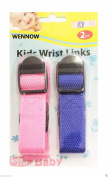 Wennow Blue Pink Child Safety Wrist Link Baby Toddler Harness Leash Adjustable Kids