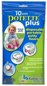 Kalencom Potette Plus On the Go Potty 10 Pack Liner Re-Fills PACK OF 2