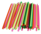 2 X Assorted Colour Giant Straws-200 Pieces