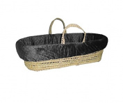 Baby Doll Heavenly Soft Moses Basket, Charcoal Grey