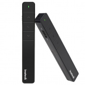 Inateck 2.4GHZ Wireless Pointer Control Powerpoint Presentation Remote Control Clicker Presenter Pen Air Mouse, Cordless Powerpoint Slide Changer for Presentations - Remote Control Range