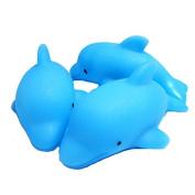KingWinX Bath Toy LED Flashing Dolphins, Pack of 3 pcs